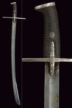 A lovely Hussar's Szabla, Polish, probably ca. or century, from Czerny's International Auction House. Swords And Daggers, Knives And Swords, Blacksmithing Knives, Powder Horn, Sword Fight, Arm Armor, Weapons, Armour, Steel