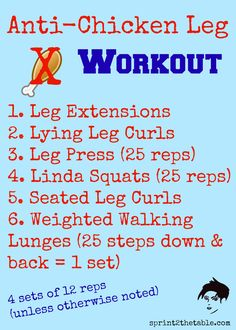 how to get rid of chicken legs without weights