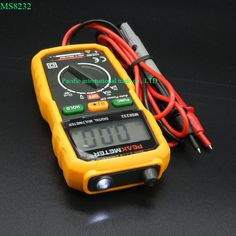 Non-Contact Mini Digital Multimeter DC AC Voltage Current Tester HYELEC MS8232 Ammeter Multitester