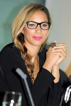 The Hottest Celebrity Glasses: 35 Frames You Need To Be Wearing: Leona Lewis. For more ideas click the picture or visit: www.sofeminine.co.uk