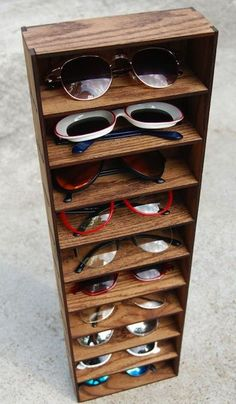 1aed2ecdf16ca 41 Awesome Sunglass Display and Storage Ideas images