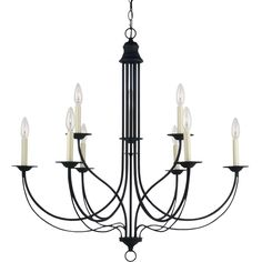 'Plymouth' Blacksmith 9-Light Multi-tiered Chandelier - Overstock™ Shopping - Great Deals on Sea Gull Lighting Chandeliers & Pendants