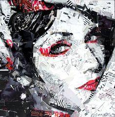 Colagens expressionistas de Derek Gores