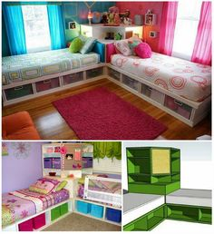 Ideal for shared kids bedroom!