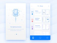 Connect the Apple Device 3 by Wenjun #Design Popular #Dribbble #shots