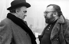 Federico Fellini and Sergio Leone
