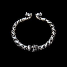 Bracelet with wolves heads (silver/bronze) viking. Bracelet from Gotland. Viking Brooch with animal headed. Viking bracelet by RuyaN on Etsy https://www.etsy.com/au/listing/223087295/bracelet-with-wolves-heads-silverbronze