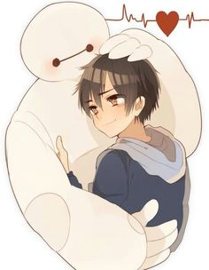 big hero 6 y tadaschi Cartoon As Anime, All Anime, Walt Disney, Cute Disney, Baymax, Big Hero 3, Tadashi Hamada, Hiro Hamada, Anime Friendship
