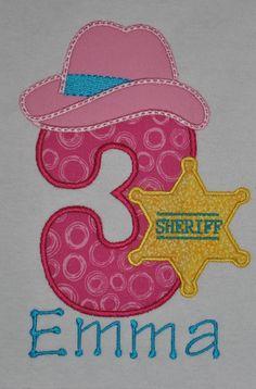 Sheriff Callie inspired cowgirl birthday number shirt