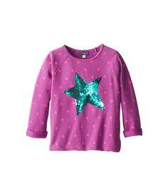 Candy Hearts Kids Sequin Star Dot Print Popover (Big Kids) Hyacinth Violet - 6pm.com