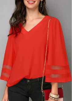 4a0b38b30f3e27 196 Best Red Blouses images in 2019