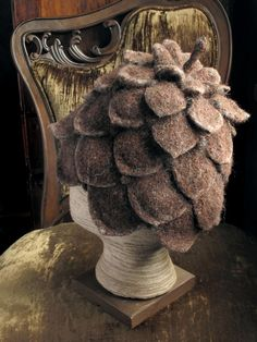 Pine cone hat. $115.00, via Etsy.