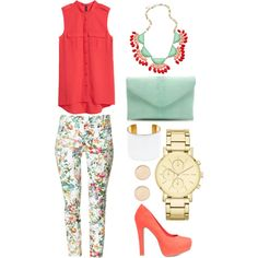 """Formal Floral"" by farrah-nihad on Polyvore"