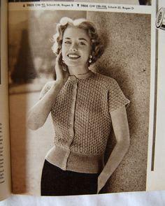 sweet vintage knitting blouse pattern