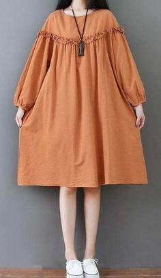 Loose dress woman long bohemian bohemian tunic and large dress Nactumu France Trendy Dresses, Simple Dresses, Plus Size Dresses, Cute Dresses, Casual Dresses, Muslim Fashion, Hijab Fashion, Fashion Dresses, Trendy Fashion