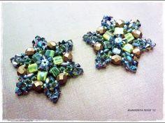 Tutorial orecchini con tile e swarovski come fare orecchini Edelweiss con perline