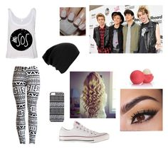 """""""5sos Concert Outfit"""" by adventure-time-luver ❤ liked on Polyvore featuring Converse, Sephora Collection, Eos and With Love From CA"""
