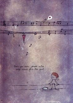 Unposted letters are from the personal illustration series. Music Drawings, Love Drawings, Imagination Art, Watercolor Moon, Paintings Famous, Art Prints Quotes, Love Illustration, Cute Cartoon Wallpapers, Whimsical Art