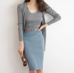 I love outfits like this for the office…looks smart & feels comfy. I love outfits like this for the office…looks smart & feels comfy. Fashion Mode, Office Fashion, Work Fashion, Style Fashion, Fashion Trends, Skirt Fashion, Latest Fashion, Feminine Fashion, Fashion Hacks