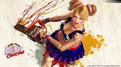 You wouldn't Have Even Imagine A Girl Doing This - Lollipop Chainsaw Desktop Wallpapers