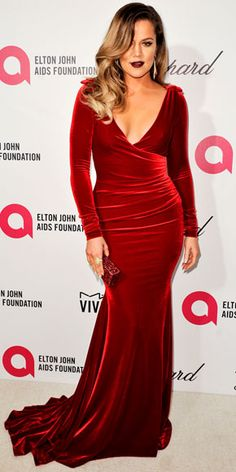 KHLOÉ KARDASHIAN -   Total babe! Love her in this red dress! #reddress #redcarpet #khloekardashian
