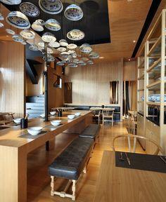 (vía Taiwan Noodle House | Interior Design, Interior Decorating, Trends & News - Interiorzine.com)