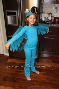 Coolest Blue Macaw (Jewel) Costume from the Movie Rio ... This website is the Pinterest of costumes