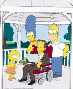 10 célebres cientistas com posicionamentos políticos surpreendentes! - Stephen Hawking desenhado por Matt Groening – O físico britânico se tornou uma celebridade, aparecendo em vários seriados de TV.