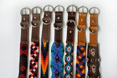 Dog Collar Leather Mexican Texil