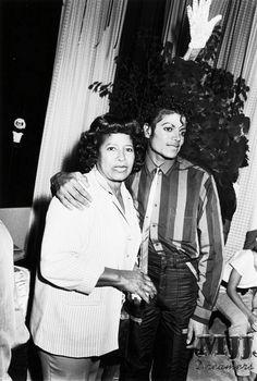 King of Pop Michael Jackson with Jackson family matriarch Katherine Jackson, his mother.