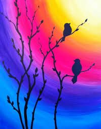 40 Acrylic Painting Tutorials & Ideas For Beginners - Brighter Craft - a.love - 40 Acrylic Painting Ideas For Beginners · Brighter Craft - Simple Acrylic Paintings, Acrylic Painting Tutorials, Easy Paintings, Diy Painting, Painting & Drawing, Painting Classes, Sunset Painting Easy, Sunset Paintings, Painting Lessons