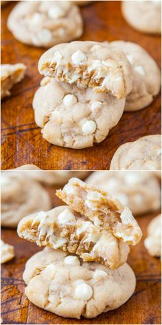 Coconut Oil White Chocolate Cookies - All the butter has been replaced with coconut oil in these soft & chewy cookies loaded with white chocolate! If you've wanted to start baking with coconut oil, this is an easy recipe to try!