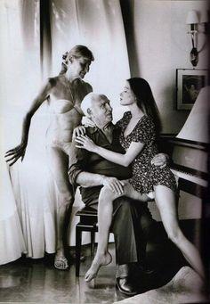 Carla Bruni by Helmut Newton, Vanity Fair November 1992