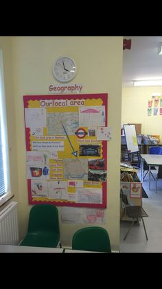 Geography display our local area. Geography Classroom, Geography Map, Geography Lessons, Classroom Display Boards, Classroom Displays, Classroom Organization, Class Displays, School Displays, Teaching Materials