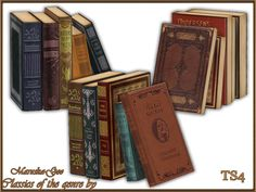 Maruska-Geo Classics of the genre books 2 Found in TSR Category 'Sims 4 Clutter' - Top-Trends Theme Harry Potter, Harry Potter Books, Harry Potter Hogwarts, Mods Sims, Sims Medieval, Muebles Sims 4 Cc, Sims 4 Clutter, Sims 4 Cc Furniture, Sims 4 Build