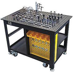 Portable Welding Table, Work Surface - All About Welding Classes, Welding Jobs, Diy Welding, Metal Welding, Welding Projects, Diy Projects, Welding Ideas, Metal Projects, Welding Bench