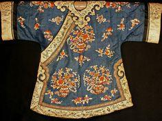 Chinese silk embroidered robe - child