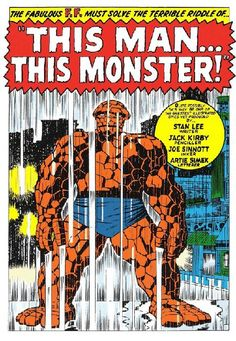 This Man... This Monster! - Classic splash page from FF #51 by Jack Kirby and Joe Sinnott