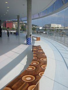"Ripples ""Like a River"", bench - Design: Toyo Ito, 2011"