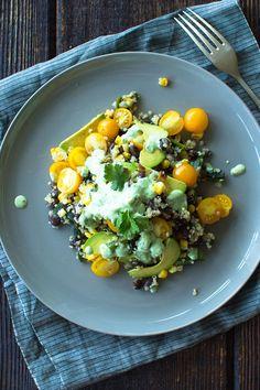 Quinoa With Cilantro Lime Dressing via @jacrousseau