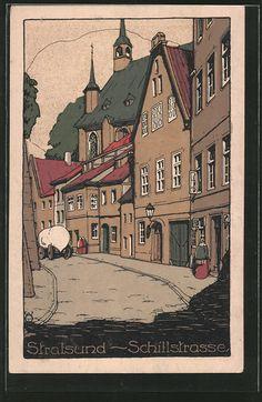 Steindruck-AK-Stralsund-Partie-an-der-Schillstrasse.jpg (398×611)