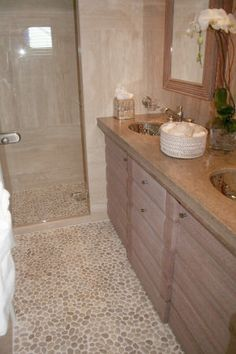 White Pebble Tile Pinterest White Pebbles Pebble Tiles And - Pebble tiles for bathroom floor