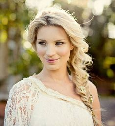 Flower Laced Fishtail Braid – Wedding Hair Inspiration for Brides Who Hate Veils – Photos Open Hairstyles, 2015 Hairstyles, Braided Hairstyles, Celebrity Hairstyles, Pretty Hairstyles, Long Hair Wedding Styles, Wedding Hairstyles For Long Hair, Bridal Hairstyle, Bridesmaid Hair Updo