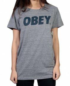 Obey - Obey Font T-Shirt - $26