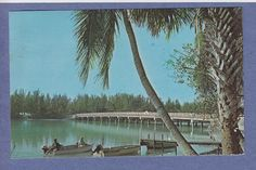 Old photo of Wood Bridge at Blind Pass between Sanibel and Captiva, 1968