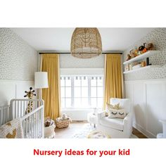 "Co-host of HGTV Canada's ""Love It or List It Vancouver"" & Former Bachelorette, Jillian Harris, shares how custom drapes complete your space. Baby Room Design, Nursery Design, Baby Room Decor, Ikea Baby Room, Neutral Nursery Colors, Baby Room Neutral, Nursery Color Schemes, Grey Yellow Nursery, Gender Neutral Bedrooms"