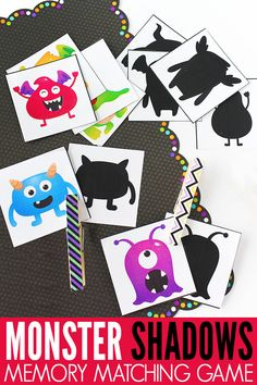 Develop visual discrimination skills essential to reading, writing and math with this fun, monster matching game! Perfect for preschool & kindergarten. Educational Games For Kids, Learning Games, Kids Learning, Card Games For Kids, Memory Games For Kids, Monster Pictures, Monster Cards, Visual Memory, Alphabet Cards