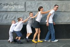 I love the mom's yellow shoes.     San Jose Family Photography