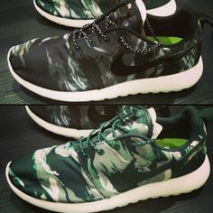 0c81c32706ff Images surfaced today of the popular Nike Roshe Run in two new tiger  camouflage colorways.