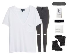 """Untitled #67"" by kayladxnielle on Polyvore featuring Topshop, MANGO, Timberland, NIKE and NARS Cosmetics"